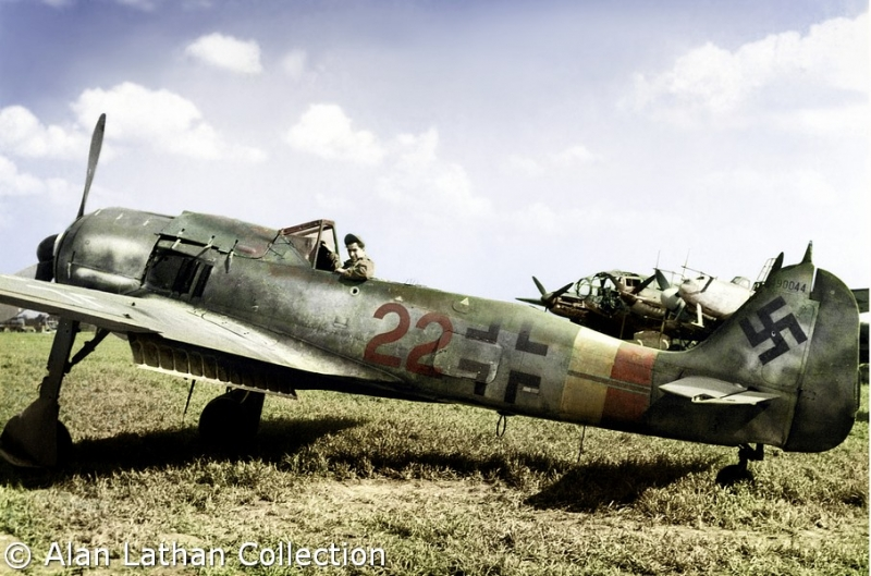 Fw-190 A-9 Red 22 6./JG301 WNr 490044